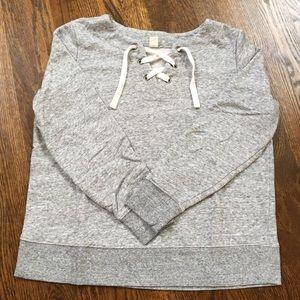 Women's lace up sweatshirt